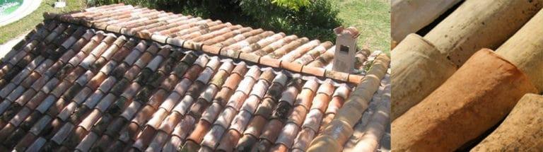 construction d'une toiture et charpente dans le sud de la France avec plusieurs tuiles.
